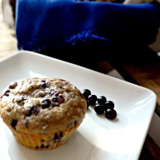 100% Whole Wheat & Naturally Sweetened Blueberry Muffins