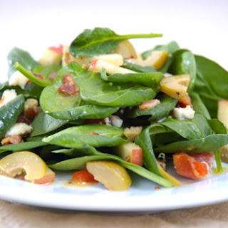 Spring Spinach Salad with Blue Cheese Stuffed Olives
