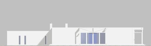 Alfa z garażem 2-st. A - Elewacja tylna