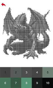 Dragons Color by Number - Pixel Art Game