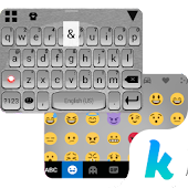 Metallic Kika Keyboard Theme