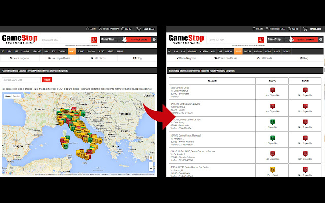 Gamestop Store Locator NoMap