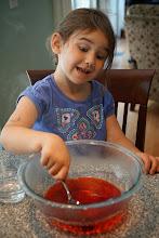 Photo: Stirring Jello
