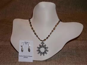 Photo: <BEREHYNYA> {Great Goddess Protectress} unique one-of-a-kind statement jewellery by Luba Bilash ART & ADORNMENT  Metal rosary pendant/fish beads, smokey quartz, sterling silver SOLD/ПРОДАНИЙ