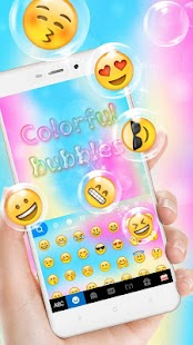 Colorful Bubbles Keyboard Theme - náhled