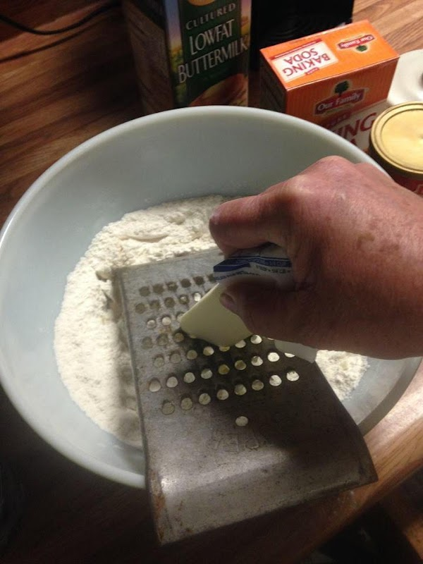 Add 2/3 cups buttermilk to moisten.  If still too dry add more of...