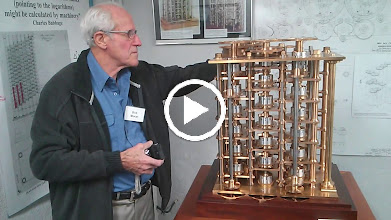 Video: Bob Moran working the Difference Engine prototype.