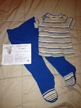 Photo: $20 Custom Sweetie Bird Fashions Wool Lee's Recycled Footie Longies with matching shirt- 0-3 months. Babe wore them from birth on (he was 8 lbs)