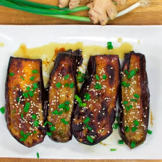 Miso Roasted Eggplant.