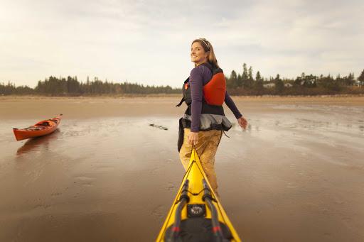 Go kayaking at New River Beach Provincial Park, southwest of Saint John, New Brunswick.