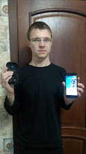 Photo: Sunday giveaway winner Игорь М. showing off his new Google Pixel 2 and Pixel Buds.