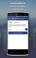 Screenshot of handytarife.de Mobilfunktarife