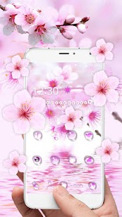 water droplets flowers launcher theme - náhled