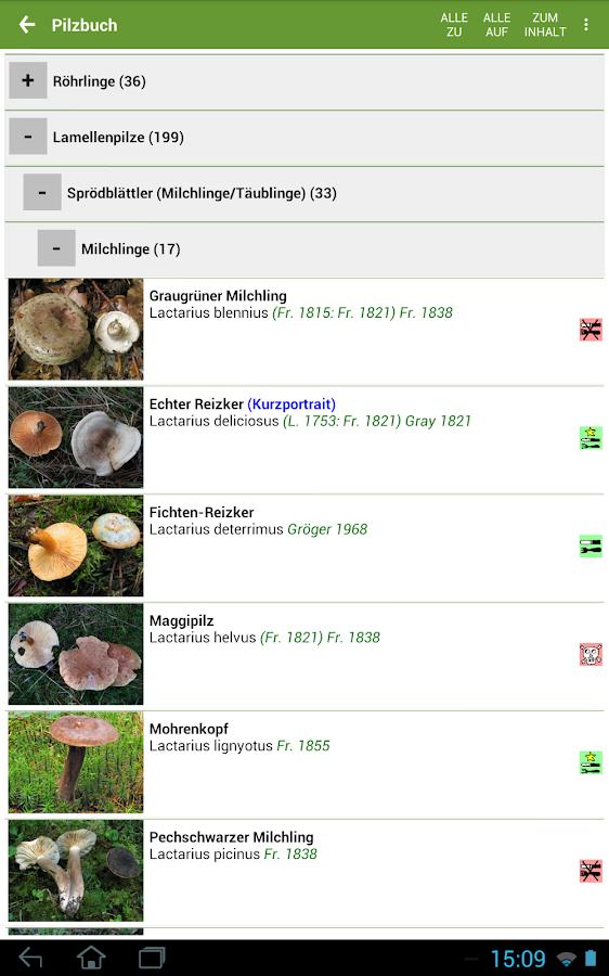Pilzbestimmung App