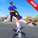 Flying Police Drone Bike Simulator 2020 icon