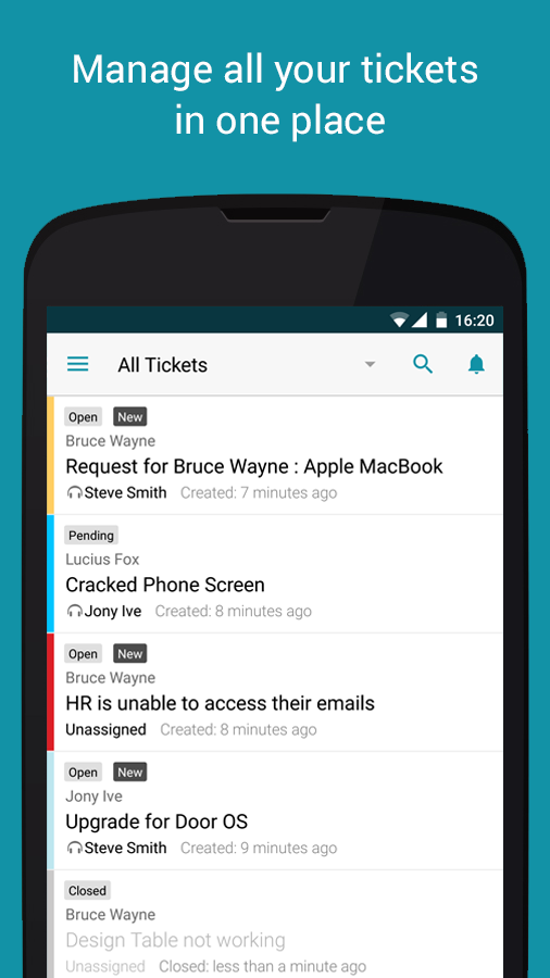 Freshservice Service Desk App- screenshot