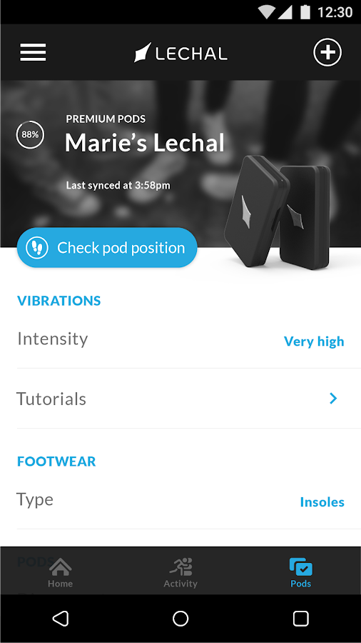 Lechal GPS Navigation Footwear- screenshot