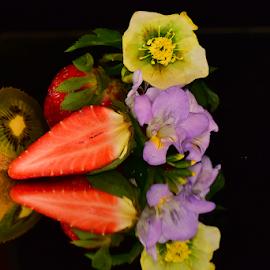 fruits end flowers by LADOCKi Elvira - Food & Drink Fruits & Vegetables ( floral, nature, plants, garden, flower )