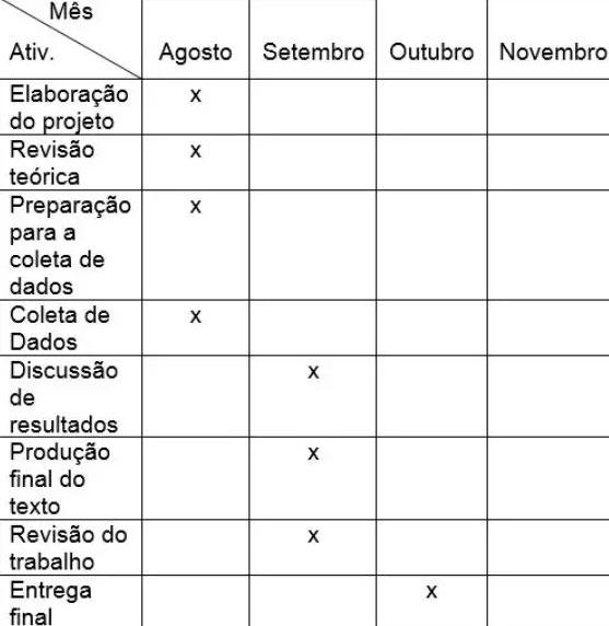 modelo de cronograma exemplo