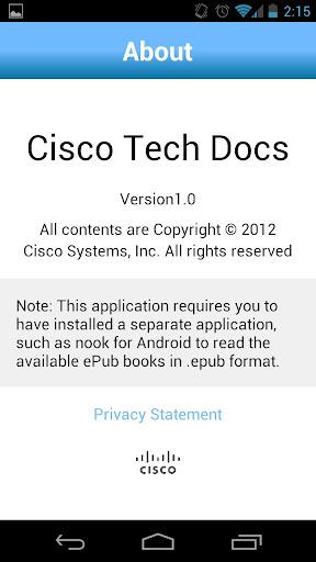 Cisco Tech Docs screenshot 3