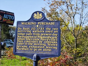 Photo: Historical markers like this are located all along the trail