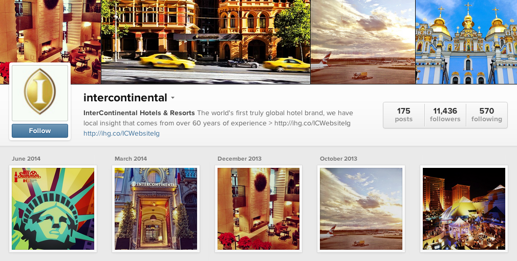Intercontinental Instagram