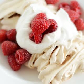 Crisp Meringues with Whipped Cream.