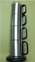 Photo: Stainless Steel  Mug Set with Stand