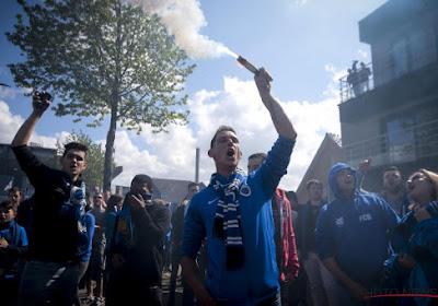 La grosse ambiance mise par les supporters de Bruges avant le match (photos + vidéo))