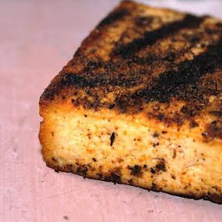 Vegan Blackened Grilled Tofu.