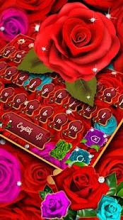 Téma klávesnice červených růží - náhled