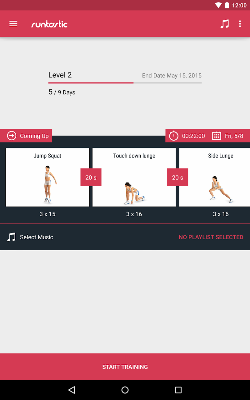 Runtastic Leg Trainer - Workouts & Exercises Screenshot 13