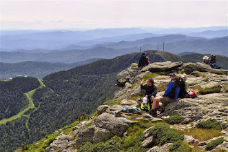 Photo: Hikers relaxing from the summit at Underhill State Park