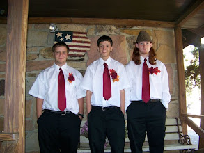 Photo: My three sons at my wedding to Eric in Nov. 2007. Chauncy, Austin and Cody!