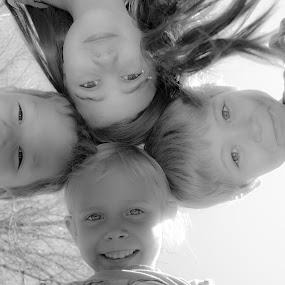 Looking Down by Matthew Westfall - Babies & Children Children Candids