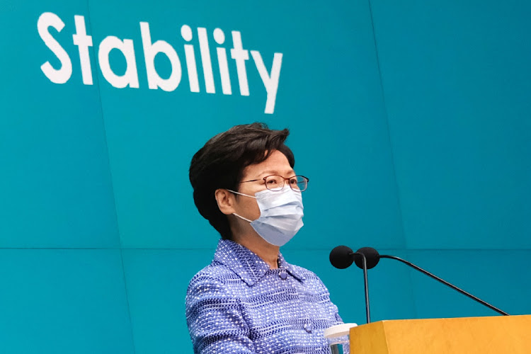 Hong Kong CE Carrie Lam. Picture: REUTERS/TYRONE SIU