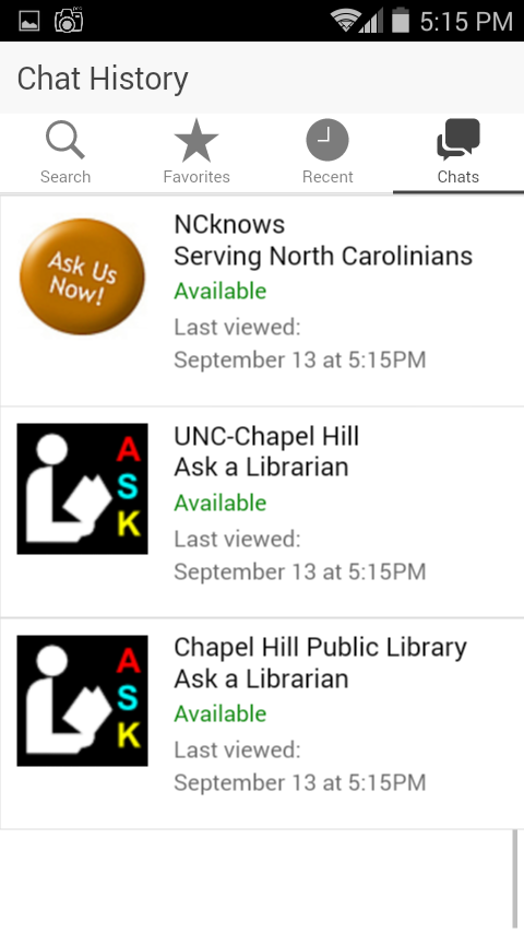 Ask a Librarian- screenshot