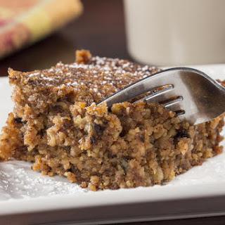Flourless Applesauce Cake.