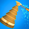 Spiral wood roll 3D - Carpenter Master icon