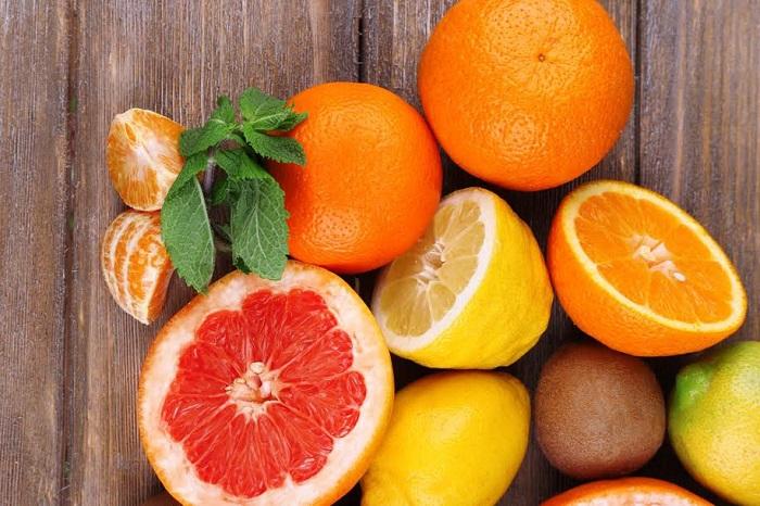 cam, quýt chứa nhiều vitamin C giúp tăng đề kháng