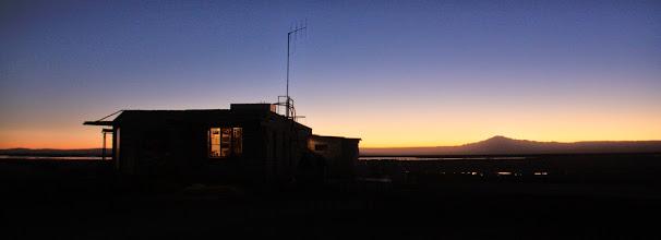 Photo: Sunset over a salt flat