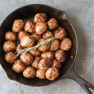 Herbed Lamb Meatballs.