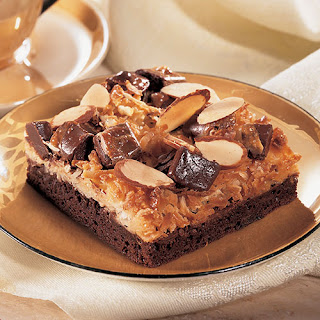 Coconut Almond Brownie Squares.