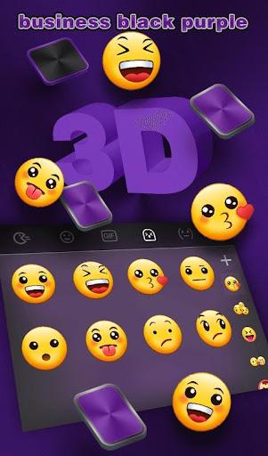Download Business Black Purple Keyboard Theme MOD APK 5