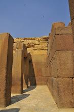 Photo: Columns by Sphinx rose granite one piece