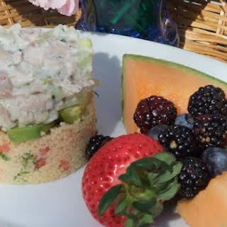 Layered Chicken Salad With Couscous.