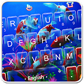 Live 3D Swimming Fish Keyboard Theme