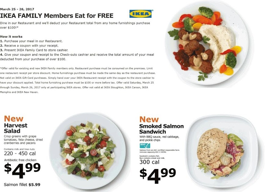 Eat Free With 100 Spent This Weekend At Ikea 03262017 Free