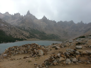 Photo: This is at #RefugioFrey in #Bariloche. When I got to the top it was hailing a bit and there insane winds... this is the best I could capture without ruining phone. I suspect the spires in the back are around where one would climb on a nice day. Oh BTW if you're looking to #rockclimb in #Patagonia in #Argentina or #Chile be sure to look into getting #rockclimbing insurance which seems to be mandated for your rock climbing permit which some places do require.