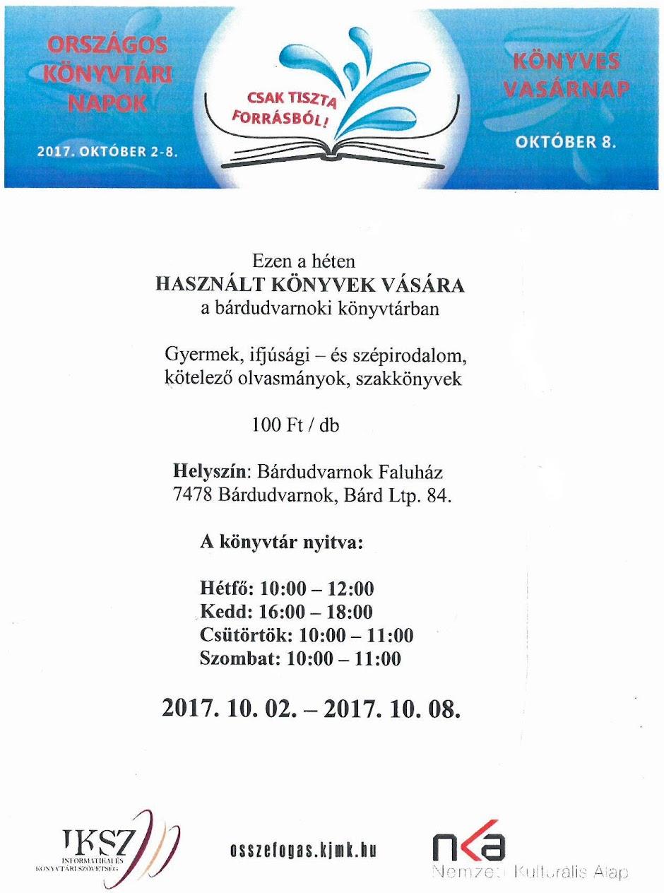 Használt könyvek vására 2017 október